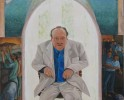 Al Grassby portrait & family history(2001-2), acryic on canvas 160cm x 110cm