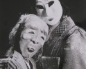 "Japanese tale from ""Black & Beyond"" 1990, Rod puppets and black theatre"