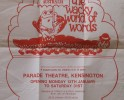 """Wacky World of Words"" Poster Marionette Theatre of Australia, Created by Roger Goss and Graeme Mathieson. Puppeteers Joy McDonald, ""Kirk"" Kirkpatrick, Daniel Weinstein"